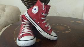 All Star Converse Vermelho Cano Medio