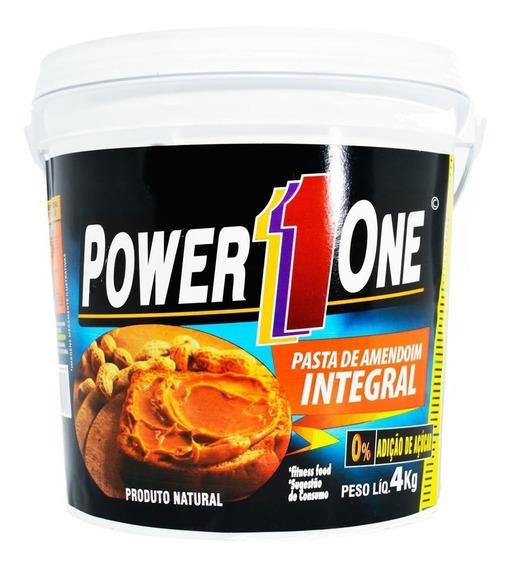 Pasta De Amendoim 4kg - Power 1 One Lisa Ou Crocante Val: 07