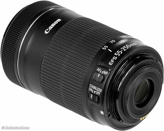 Lente Canon Ef-s 55-250 Mm F/4-5.6 Is Stm Nf Garatia Canon