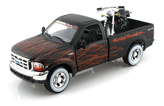 Ford F-350 Fxstb Night Train Maisto 1:24 Harley Davidson