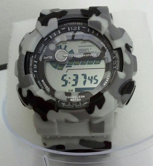 Relógio Militar Camuflado Estilo Russo Resistente Antishock