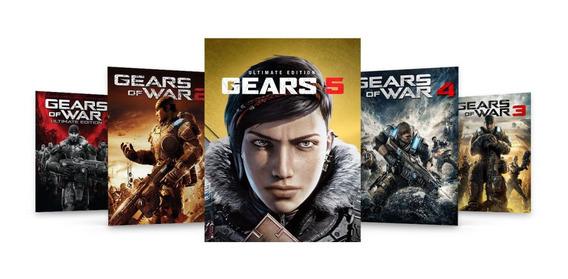 Jogo Digital Pacote Gears 1 2 3 4 5 (25 Digitos) - Xbox One