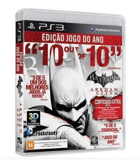 Batman Arkham City Ps3 Original Seminovo