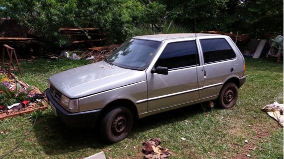 Fiat Uno Sx 98 Prata 1.0 Gasolina