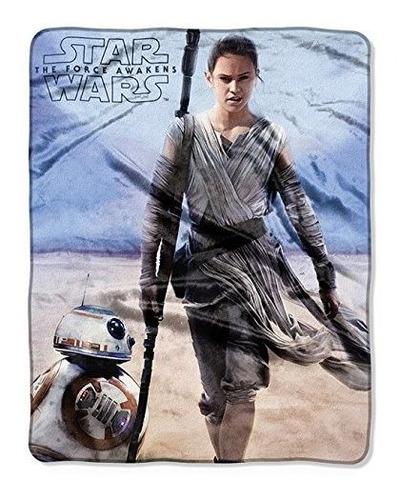 Imagen 1 de 1 de Star Wars Rey - Bb-8 Manta De Felpa Suave Y Felpa 40 X 50 10