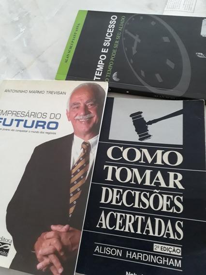 Livros Tempo E Sucesso/empresários Do Futuro/como Tomar Deci