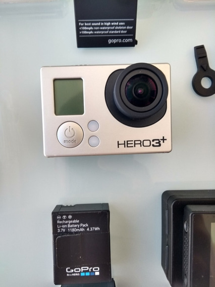 Gopro Hero 3+ Extra Sd 64gb, 2 Baterias, Visor Lcd, Case