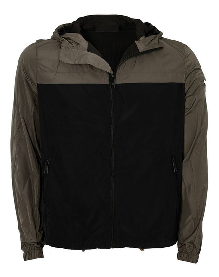 Jaqueta Prada Milano Nylon Zip Black Grey