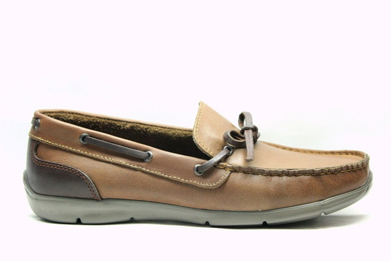 Zapatos Pizzoni 7331 Mocasines Nauticos De Cuero