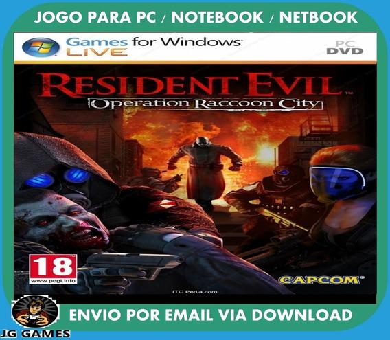 Resident Evil Operation Raccoon City Pc Jogo Digital