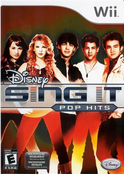 Jogo Disney Sing It Pop Hits Nintendo Wii Original Mídia Fís