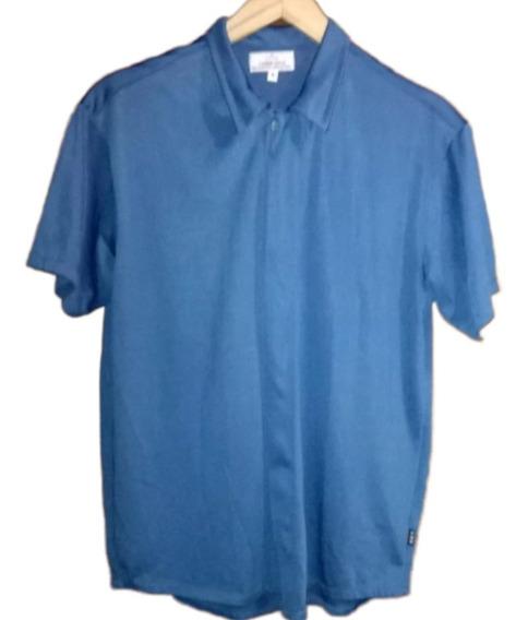 Camisa Manga Corta Elastizada Razada
