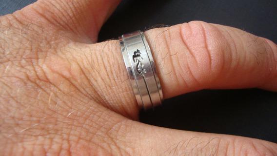 Anel Aço Cirúrgico(liso) -salamandra Vazado Giratório- 25 Cm