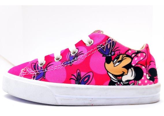 Tênis Infantil Minnie Rosa Disney Diversão Mouse 24 32
