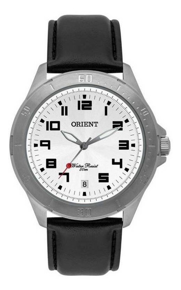 Relógio Masculino Orient Mbsc1032 D2sx 43mm Inox Couro Wr50m