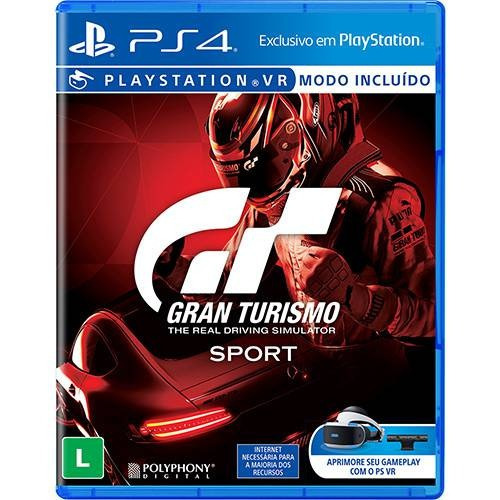 Jogo Gran Turismo Sport - Ps4 Novo Lacrado Português