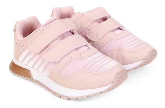 Tênis Jogging Infantil Klin 216028 Baby Walk Rosa Charme Modas