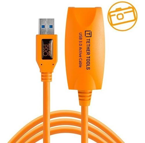 Imagen 1 de 6 de Cable Tether Tools Tetherpro Usb 3.0 Extension Activa, 4.6m
