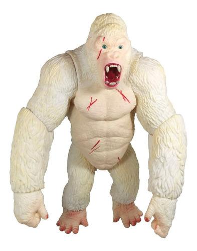 Figura Rampage George Gigante 47cm Gorila Albino Blanco King