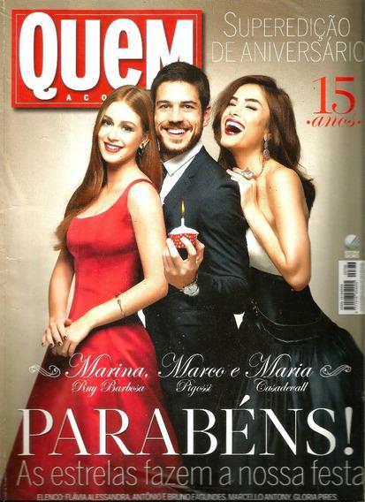 Revista Quem 786/15 - Marina/pigossi/casadevall/grazi/