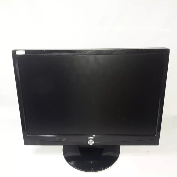 Monitor Aoc 917sw Lcd 19 Pol 1440 X 900 Vga - Seminovo