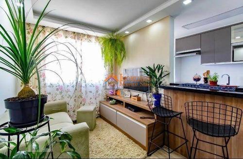 Imagem 1 de 22 de Apartamento Com 2 Dormitórios À Venda, 47 M² Por R$ 250.000,00 - Jardim Las Vegas - Guarulhos/sp - Ap1908