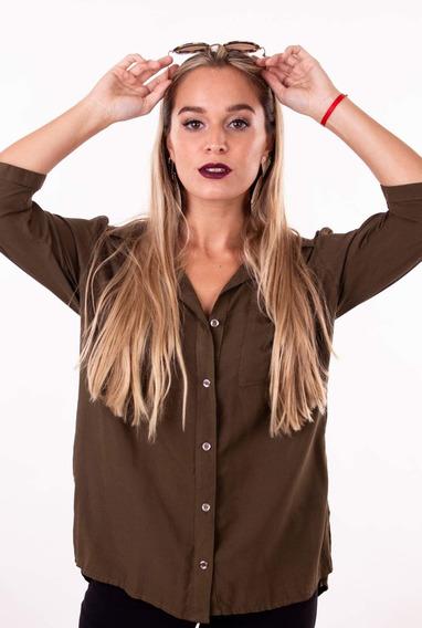 Camisa Lisa Larga Tambien Talles Grandes