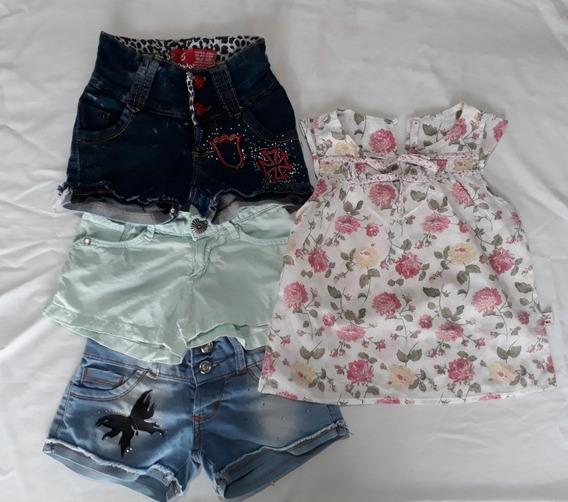 Lote Ropa De Nena Verano Shorts + Blusa Mimo