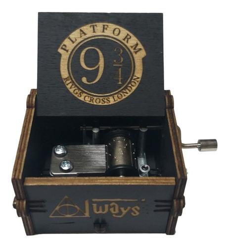 Caja Musical Manivela Harry Potter Hedwig Theme De Colección