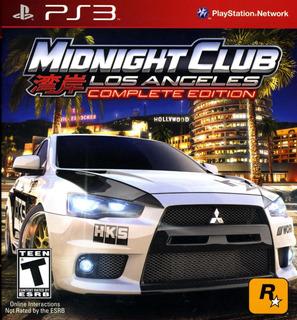 Midnight Club Los Angeles Juego Digital Ps3