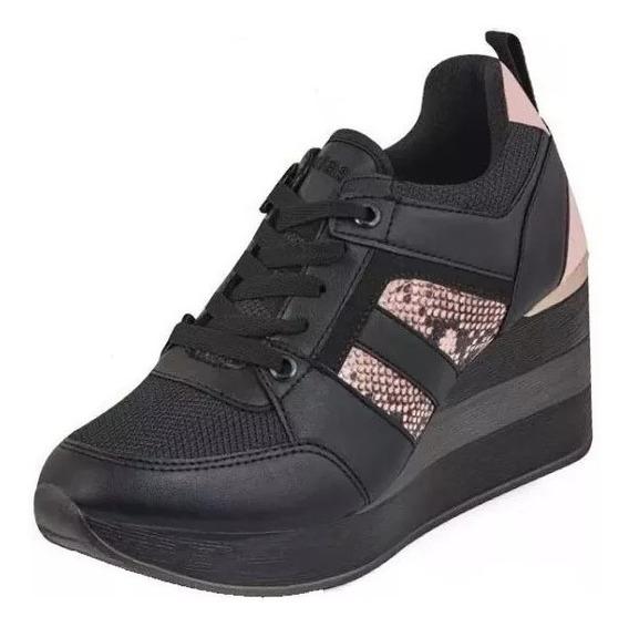 Zapato/tenis Plataforma Dama Cklass 189-52 Negro 8cm Pv20