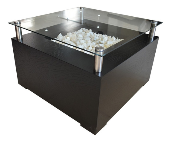 Mesa D Centro Decorada Piedra Onix Cubierta Cristal Templado