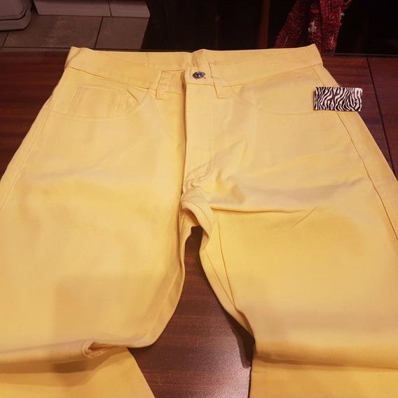 Pantalon Duplic Jean Color Amarillo Ts