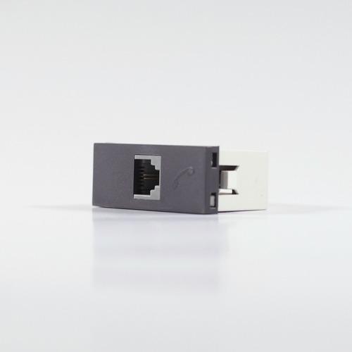 Imagen 1 de 4 de Modulo Teléfono Americano 2 Pin Gris Cambre 7931