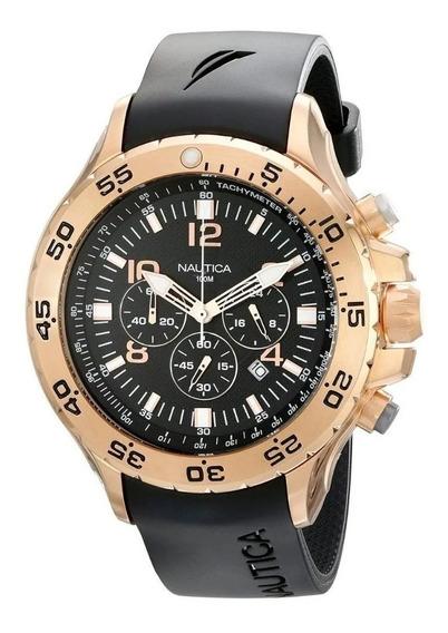 Relógio Mk99p Preto Nautica N16695g Puls. Resina Oferta