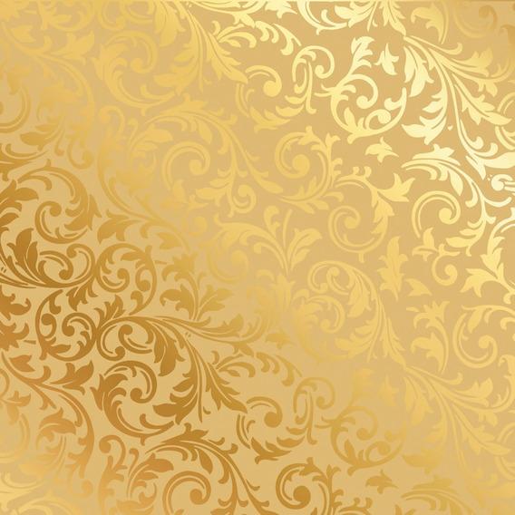 50 Sacos Metalizado P/presente 10x14cm Arabesco Ouro