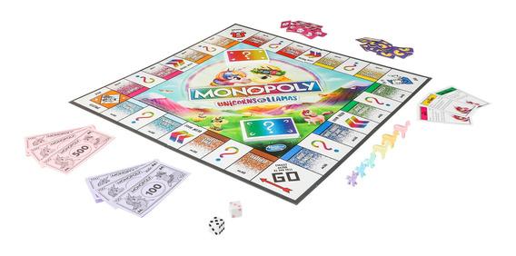 Hasbro Gaming Monopoly Unicornios Vs Llamas Juego De Mesa