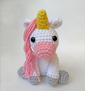 Free Crochet Unicorn Pattern - Red Ted Art - Make crafting with ... | 320x298