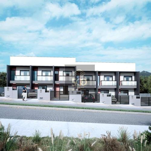 Sobrado Com 3 Dormitórios À Venda, 110 M² Por R$ 370.000 - Areias - São José/sc - So0139