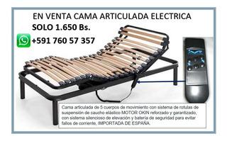 Cama Eléctrica Articulada Con Control Para Personas Enfermas