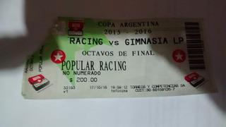 Copa Argentina 2016 Entrada Racing Vs Gimnasia Lp