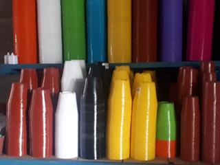 Macetas Plasticas N8 X30unid + 2 Kilos De Piedras Colores