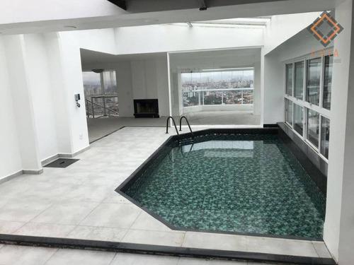 Cobertura Com 340 M², 4 Dormitórios Sendo 1 Suíte,  5 Banheiros, 6 Vagas, Lazer, R$ 1.290.000,00 - Co1382