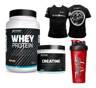 Whey Protein + Creatine 300g - Shaker + Camiseta Brinde