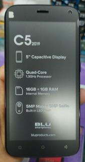 Celular Blu C5 2019 16gb 1gb Ram Tela 5.0 Cameras 5mp