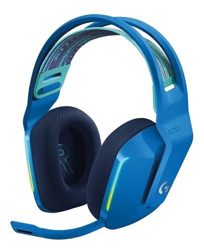 Imagen 1 de 3 de Audífonos gamer inalámbricos Logitech G Series G733 azul con luz  rgb
