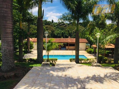 Linda Chácara, 11350 M² Por R$ 2.300.000 - Jardim Estância Brasil - Atibaia/sp - Ch0135