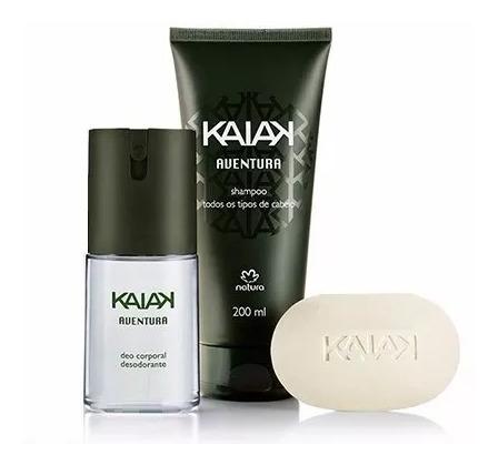 Kit Kaiak Aventura Natura Spray + Shampoo + Sabonete