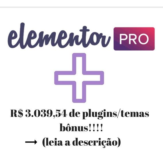 Elementor Pro #original# Editor De Sites + Temas #envioflash