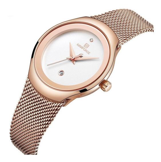 Relógio Feminino Naviforce 5004 Fashion Lançamento Original
